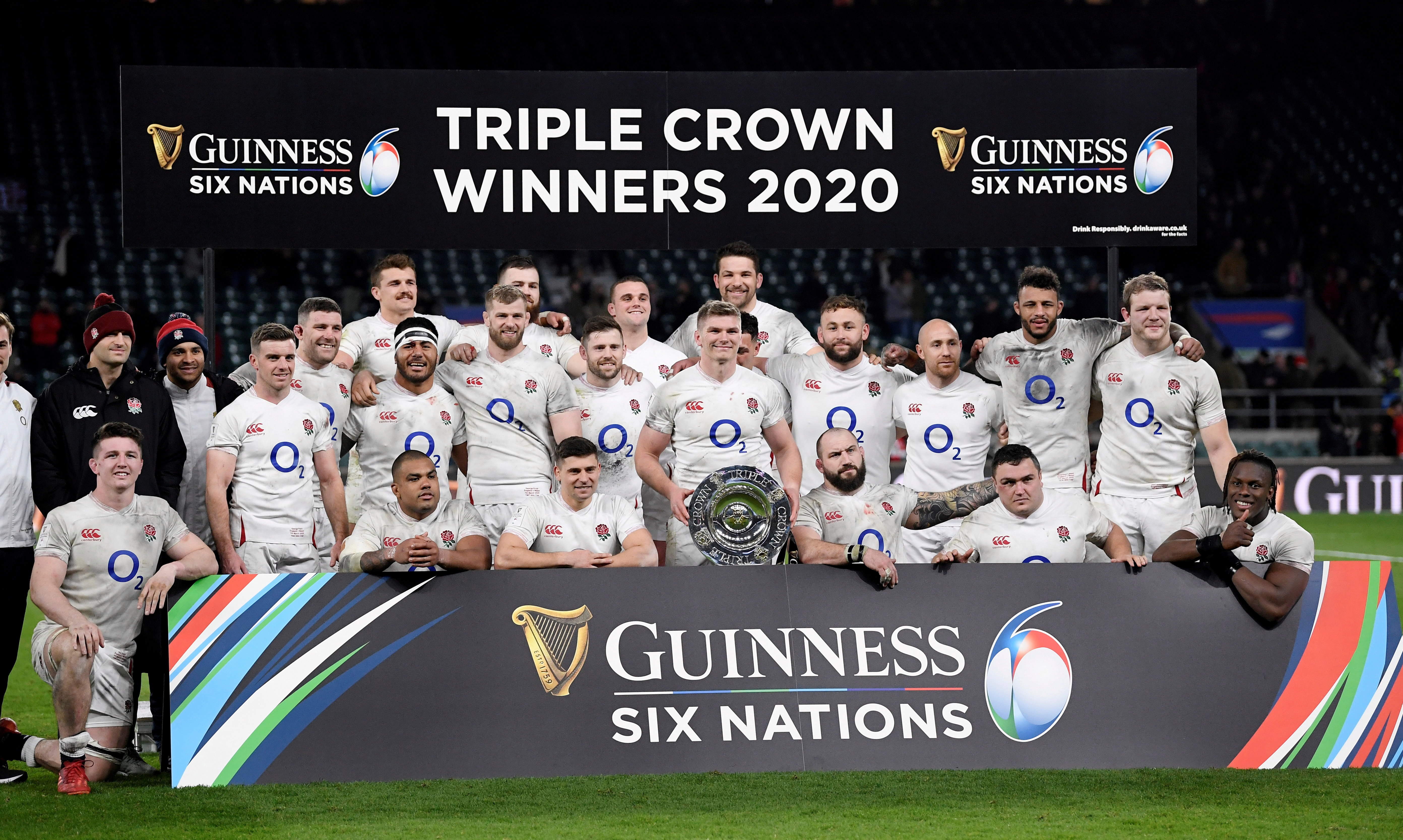 England celebrated the Triple Crown in 2020