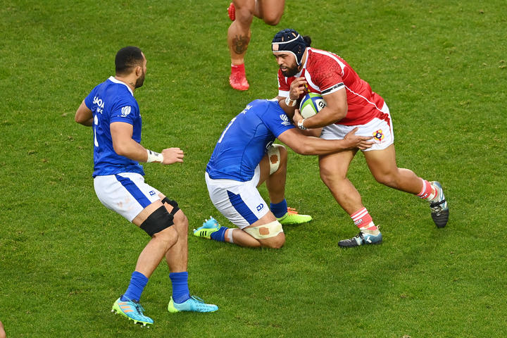 Replacement hooker Jay Fonokalafi scored a try on test debut.