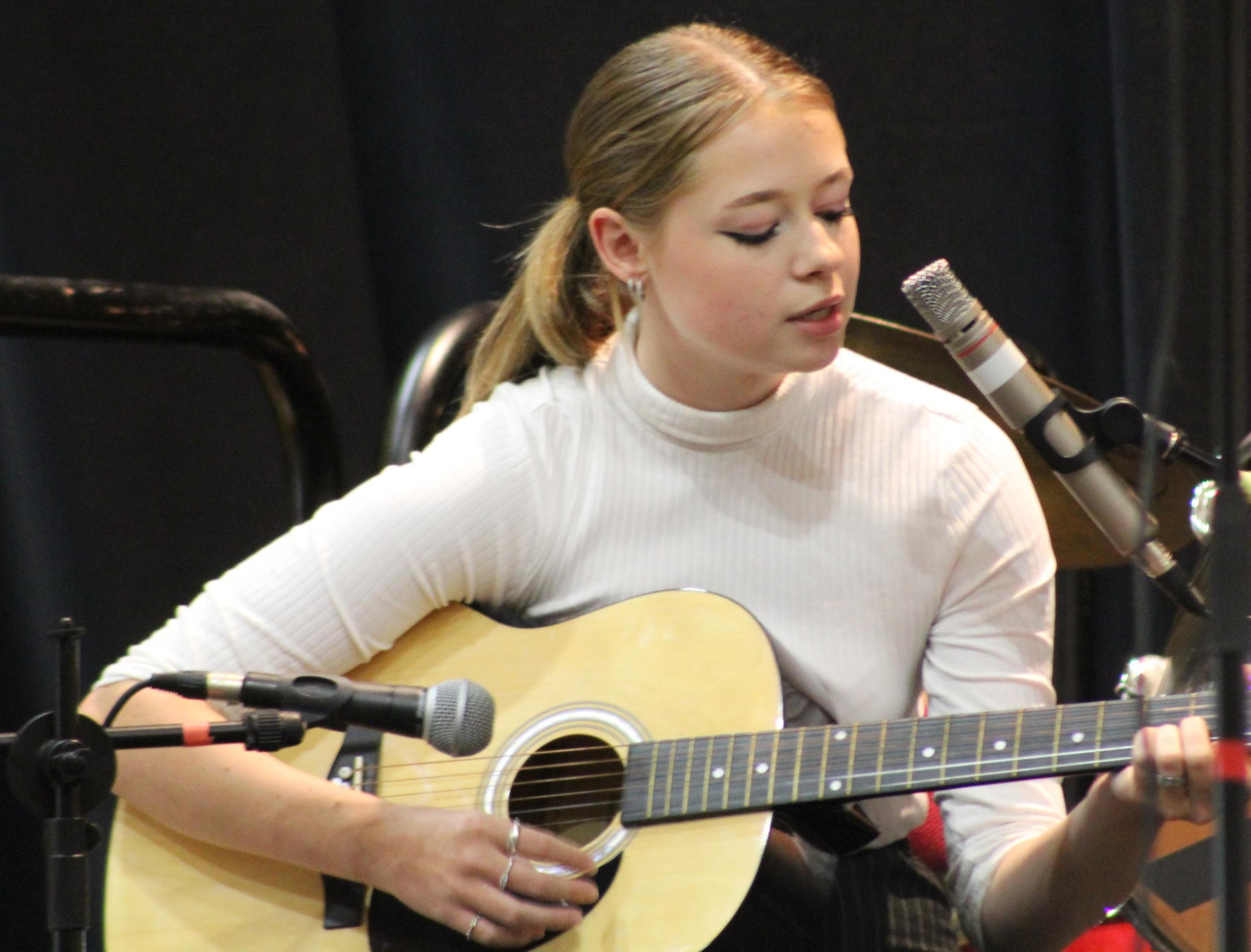 GUITAR: Katie Miller performing at the Prizegiving Event cropped