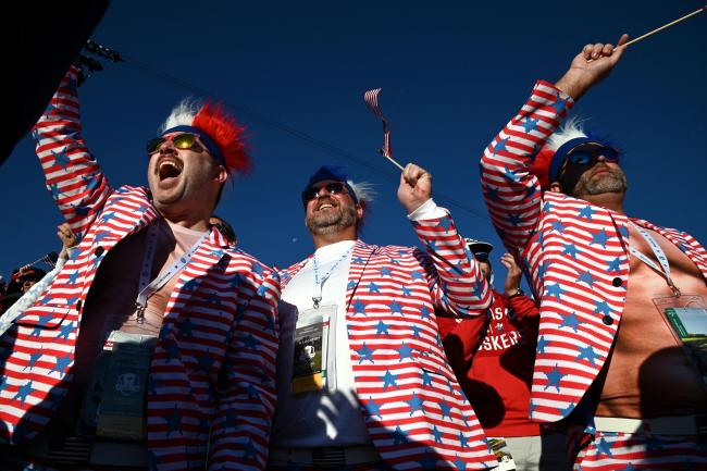 USA fans had plenty to cheer at the Ryder Cup